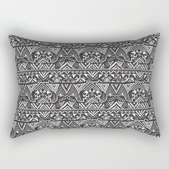 Pug  Tribal Rectangular Pillow