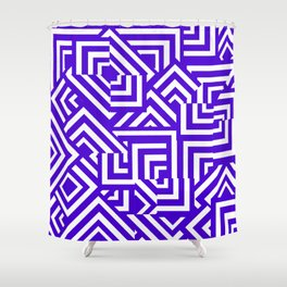 Graphically Purple Shower Curtain