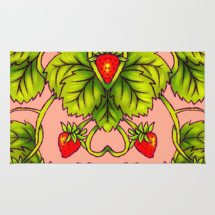 Strawberry Heart Rug