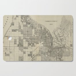 Vintage Map of Tacoma Washington (1907) Cutting Board