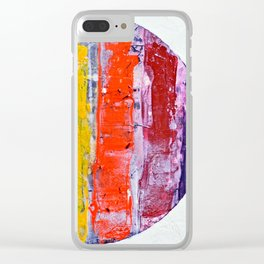 Same, LGBT rainbow abstract, NYC artist Clear iPhone Case
