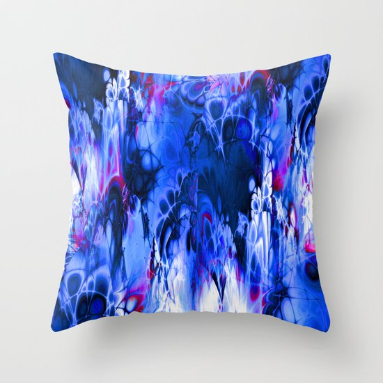 Marshmellow Skies (midnight blue) Throw Pillow by NatalieCatLee Society6