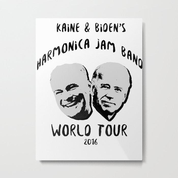 Biden and Kaine's Harmonica Jam Band Tour 2016 Metal Print