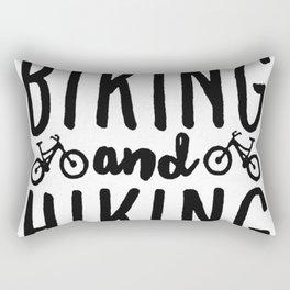 BIKING AND HIKING T-SHIRT Rectangular Pillow