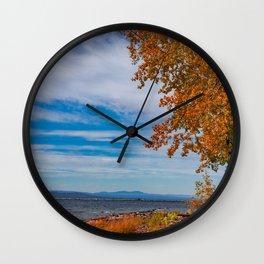 Lake Champlain Colors Wall Clock