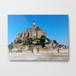 Castle Fortress- Le Mont Saint Michel Metal Print