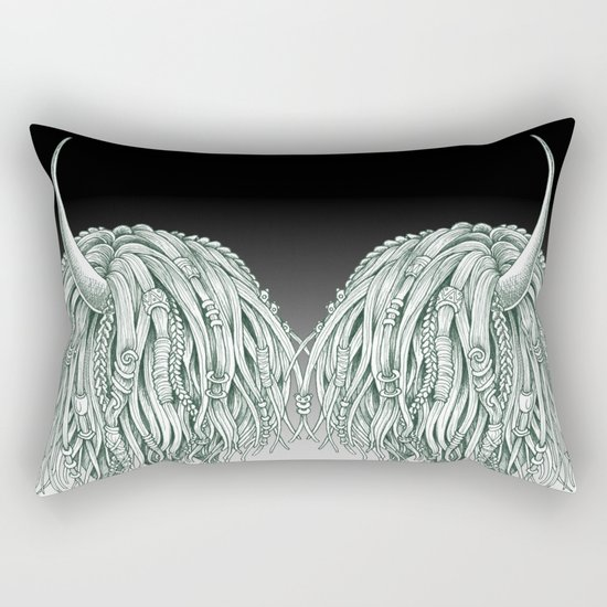 Horny Beast Rectangular Pillow