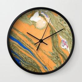 Greenery Marble Painting Wall Clock