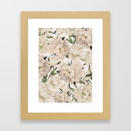 Peonies Pattern Framed Art Print
