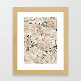 Peonies Pattern Framed Art Print