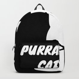 Purranormal cativity - cat ghost pun Backpack