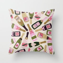 French Champagne Collection – Pink & Green Throw Pillow