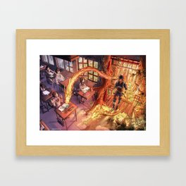I'm coming into your world Framed Art Print