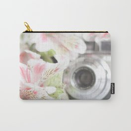Pink flower and bokeh camera in the morning (Still Life Photography)  Carry-All Pouch