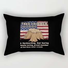 Funny Arborist Woodworking Tree Trimmer Gift Rectangular Pillow