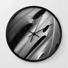 Monstera leaf tropical art Wall Clock