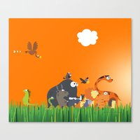 What's going on in the jungle? Kids collection Canvas Print