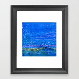 Blue landscape I Framed Art Print