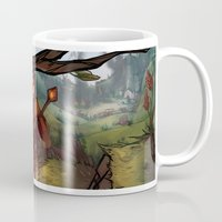 dragon age inquisition Mugs featuring Dragon Age by DustyLeaves