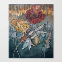 caitlin hackett Canvas Prints featuring Ashes to Ashes by Caitlin Hackett