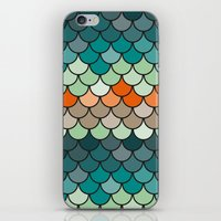 scales iPhone & iPod Skins featuring Scales by Pattern Design