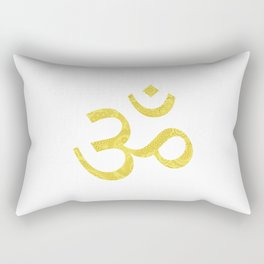 Om (Aum, ॐ) Symbol - Gold Rectangular Pillow