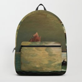 A New England Lighthouse Under the Silver Moon by James Gale Tyler Backpack