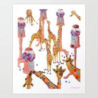gumball Art Prints featuring Gumball Acacias by sarahklinger