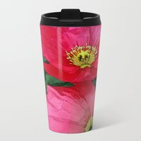 Poppies Three Metal Travel Mug