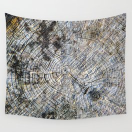 Old Tree Rings Wall Tapestry