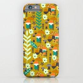 Autumn gnome garden iPhone Case