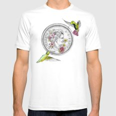 Our Beauty Queen MEDIUM White Mens Fitted Tee