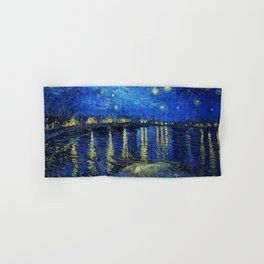 Starry Night Over the Rhone by Vincent van Gogh Hand & Bath Towel