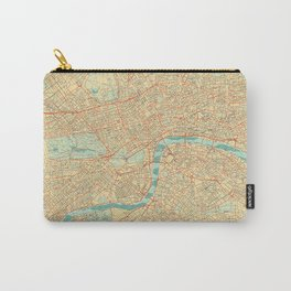 London Map Retro Carry-All Pouch