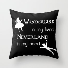 World Of My Own Throw Pillow