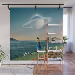 Watching Planets Wall Mural