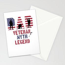 Dad Veteran Myth Legend Proud Veteran Soldier Stationery Cards