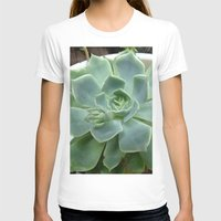 succulent T-shirts featuring Succulent by Sara Valor