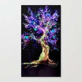Wild Neon Apple Tree Watercolor by CheyAnne Sexton Canvas Print