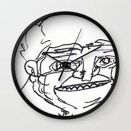 Mr Weirdface Wall Clock