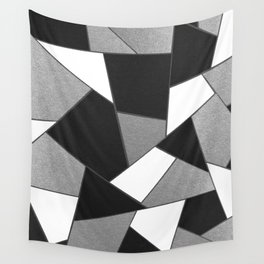 Silver Gray Black White Geometric Glam #1 #geo #decor #art #society6 Wall Tapestry