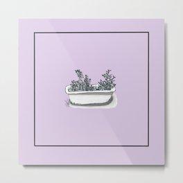 bathtub herb garden Metal Print