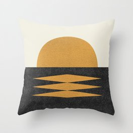 Sunset Geometric Midcentury style Throw Pillow