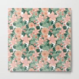 Succulents in Bloom Metal Print