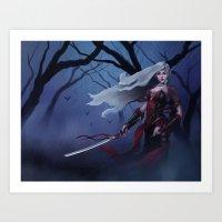 Female Vampire Art Print