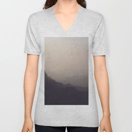 Smoky Hazy Sunset in the Grand Canyon Unisex V-Neck
