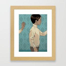 Looped world Framed Art Print