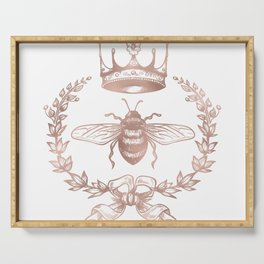Queen Bee in Rose Gold Pink Serving Tray