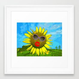 Hot Babe in the Sun Framed Art Print