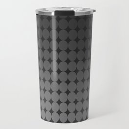 Blackk Circles Travel Mug